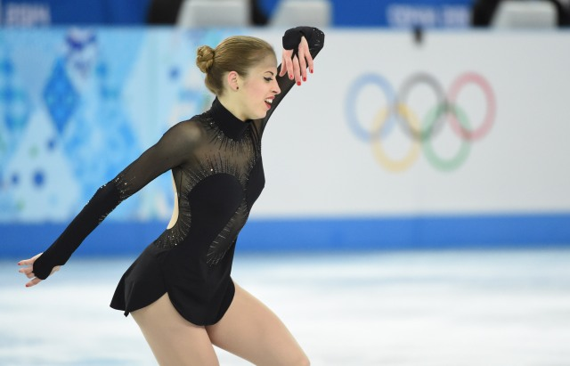 Carolina Kostner of Italy performs in the ladies free skate program during the Sochi 2014 Olympic Winter Games at Iceberg Skating Palace. (Robert Deutsch-USA TODAY Sports)