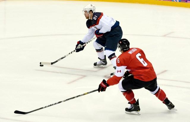 Olympics: Ice Hockey-Men's Semifinals-USA vs Canada