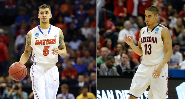 Florida's Scotty Wilbekin and Arizona's Nick Johnson turned it on late after struggling for much of their Sweet 16 games.