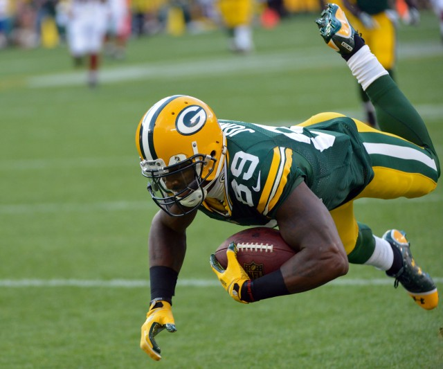 James Jones, who was Aaron Rodgers' favorite target in 2012, has signed with the Raiders. (Benny Sieu, USA TODAY Sports)
