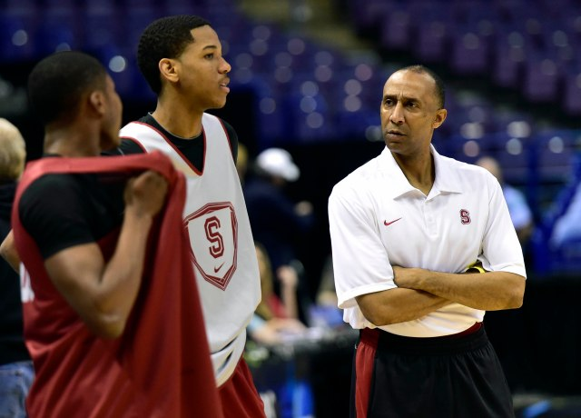 Stanford coach Johnny Dawkins was a star on Duke coach Mike Krzyzewski's first Final Four team. (Scott Rovak, USA TODAY Sports)
