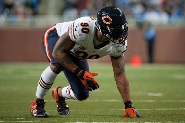 Chicago Bears defensive end Julius Peppers against the Detroit Lions at Ford Field. (Tim Fuller - USA TODAY Sports)