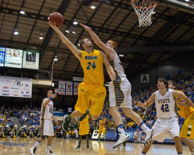 Taylor Braun leads the North Dakota State offense that ranked first in the nation at avoiding blocked shots. Brace Hemmelgarn-USA TODAY Sports.