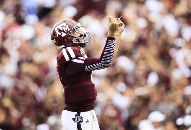 Johnny Manziel continues to build his brand. (Thomas Campbell - USA TODAY Sports)