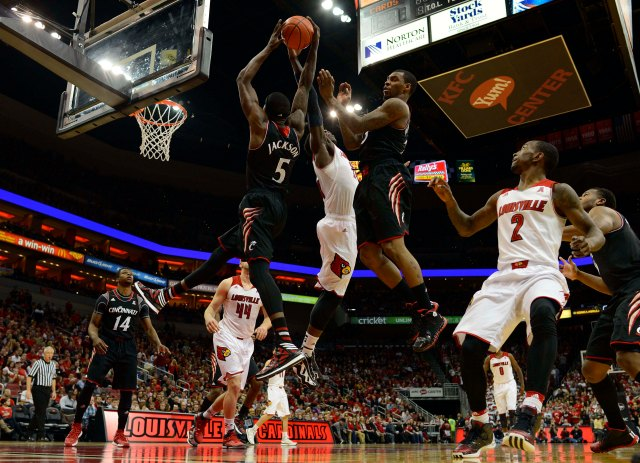 Louisville will have to shore up the defensive glass if it is going to repeat as national champions. Jamie Rhodes-USA TODAY Sports.