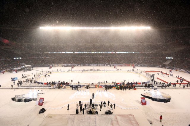 This is what Soldier Field looked like on Mar. 1. (Dennis Wierzbicki-USA TODAY Sports)