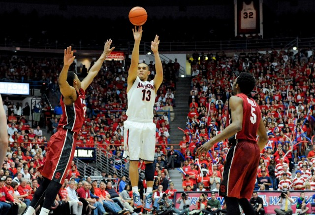 Nick Johnson and the Arizona Wildcats have to knock down outside shots in the NCAA tournament. Casey Sapio-USA TODAY Sports.
