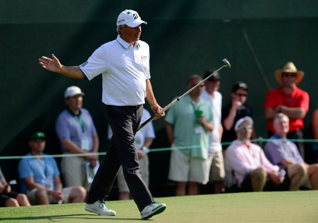 Fred Couples remains near the top of the Masters leaderboard heading into weekend play. (Michael Madrid, USA TODAY Sports)