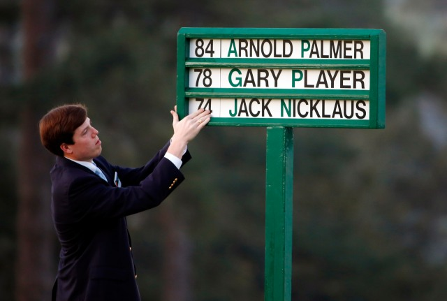 Three legends of golf opened the first round of the Masters with ceremonial tee shots Thursday morning. (Jack Gruber, USA TODAY Sports)