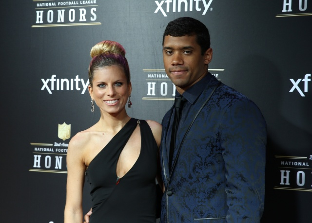 Seattle Seahawks quarterback Russell Wilson with wife Ashton Wilson on the red carpet prior to the Super Bowl XLVII NFL Honors award show at Mahalia Jackson Theater. (Mark J. Rebilas - USA TODAY Sports)