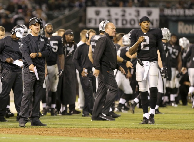 The Oakland Raiders hope to heal the divide between head coach Dennis Allen and his quarterbacks. (Kelley L Cox - USA TODAY Sports)
