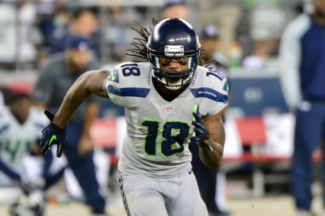 Seattle Seahawks wide receiver Sidney Rice during the game against the Arizona Cardinals at University of Phoenix Stadium. (Matt Kartozian - USA TODAY Sports)