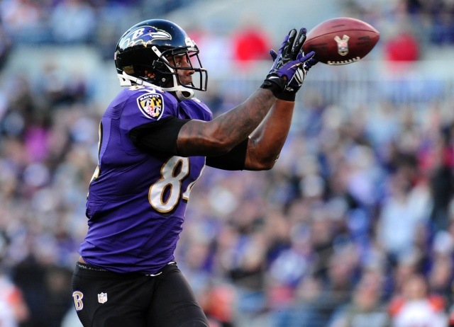 Ed Dickson catches a pass against the Cincinnati Bengals at M&T Bank Stadium. (Evan Habeeb - USA TODAY Sports)