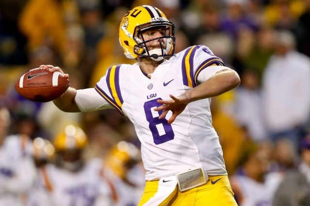 LSU Tigers quarterback Zach Mettenberger against the Texas A&M Aggies  at Tiger Stadium. (Derick E. Hingle - USA TODAY Sports)