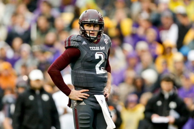 Texas A&M Aggies quarterback Johnny Manziel during a game against the LSU Tigers at Tiger Stadium. (Derick E. Hingle - USA TODAY Sports)