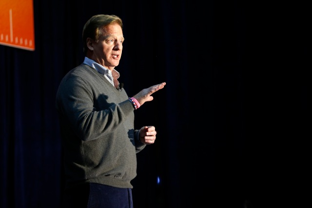 NFL commissioner Roger Goodell has had a rough week. (AP Photo/Andrew A. Nelles)