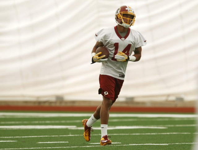 Ryan Grant works out during Washington Redskins rookie mini-camp at Redskins Park in Ashburn, Virginia. (Mark Wilson -Getty Images)