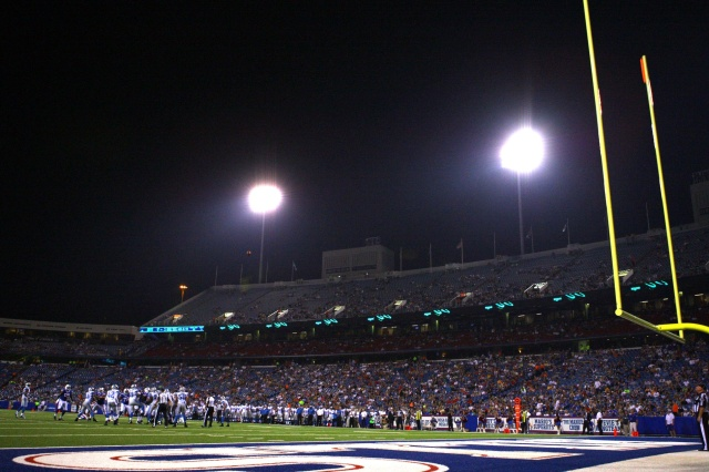 A general view of Ralph Wilson Stadium during a game between the Buffalo Bills and the Detroit Lions. (Timothy T. Ludwig - USA TODAY Sports)