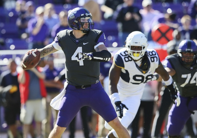 TCU Horned Frogs quarterback Casey Pachall has gone from one of the best quarterbacks in college football to an intriguing prospect. (Kevin Jairaj - USA TODAY Sports)