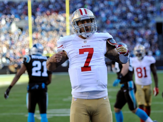 Colin Kaepernick is heading into his third year as the Niners' starting quarterback. / Sam Sharpe, USA TODAY Sports