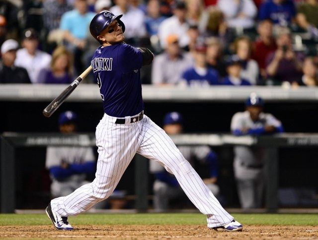 Troy Tulowitzki's 20 home runs is the most in the majors by a shortstop. (Ron Chenoy, USA TODAY Sports)
