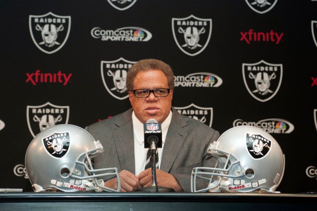 Raiders general manager Reggie McKenzie hit free agency hard to revamp a four-win team. (Ed Szczepanski, USA TODAY Sports)
