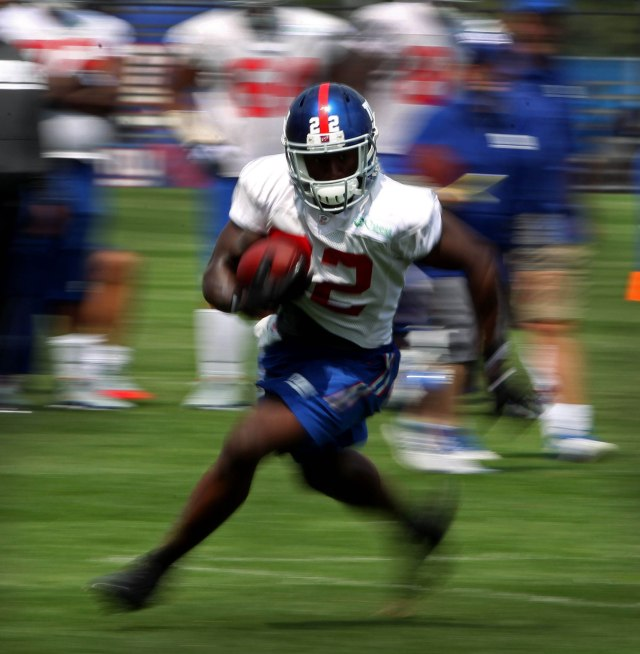David Wilson struggled to hold onto the ball a year ago. Noah K. Murray, USA TODAY Sports)