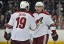 Radim Vrbata, right, and Shane Doan celebrate a goal. (Gary A. Vasquez, USA TODAY Sports)