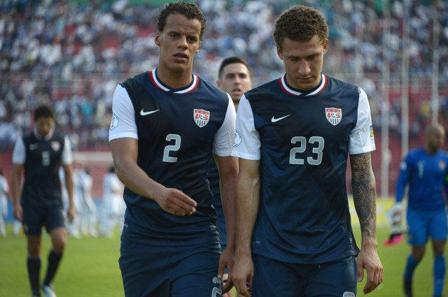 Timmy Chandler (left) did not play in Brazil but could feature prominently alongside Fabian Johnson (right) in the 2018 World Cup. (Kirby Lee, USA TODAY Sports)