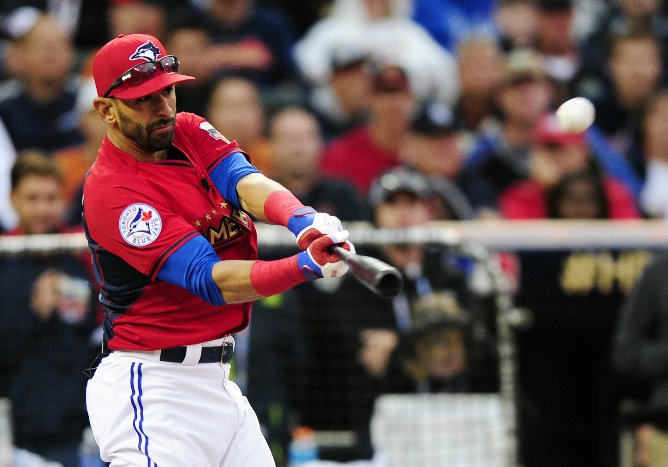 Jose Bautista put on an impressive power display in the first round, belting 10 home runs.