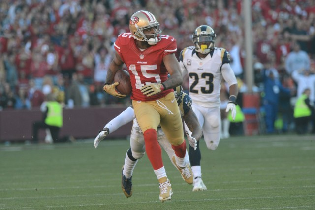 Niners wide receiver Michael Crabtree will be a free agent after this season. (Kyle Terada, USA TODAY Sports)