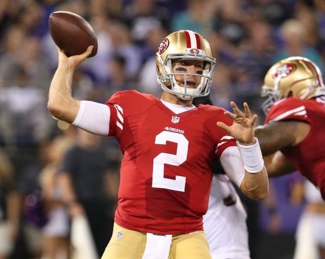 Blaine Gabbert must show more in the 49ers second preseason game. Mitch Stringer, USA TODAY Sports