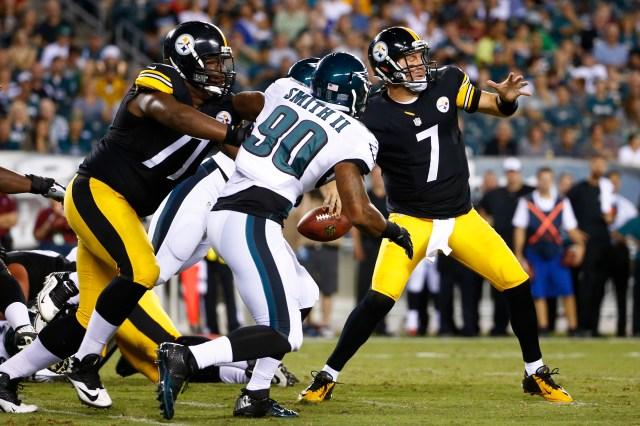 Steelers QB Ben Roethlisberger was under fire Thursday night. (Matt Rourke-AP)