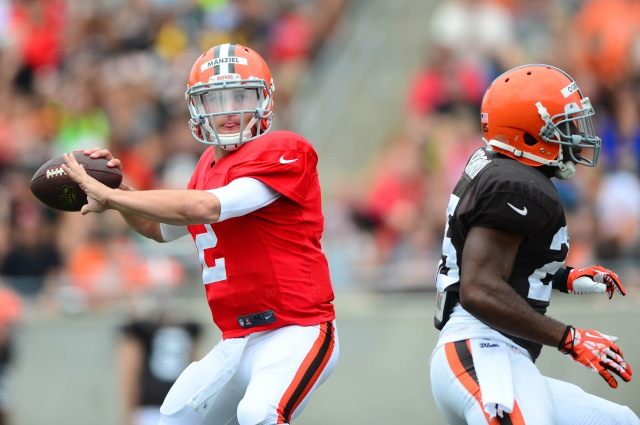 Johnny Manziel's every move will be dissected in Saturday's preseason debut. (Andrew Weber, USA TODAY Sports)