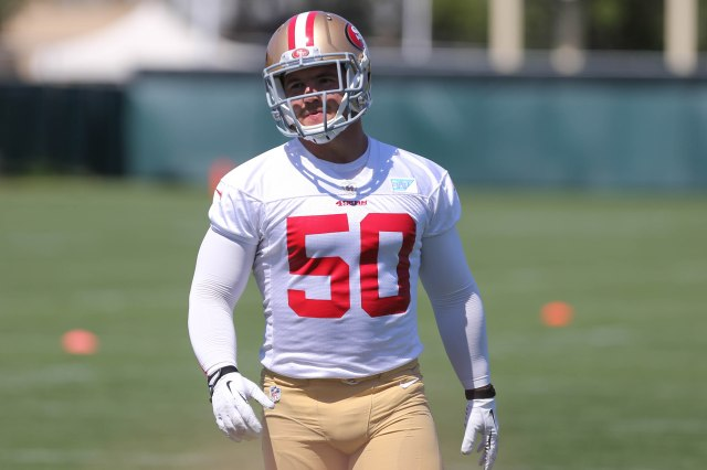 The Niners need rookie linebacker Chris Borland to adjust quickly. (Kelley L Cox, USA  TODAY Sports)