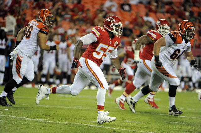 Rookie Dee Ford was given a long look in the first preseason game. (John Rieger, USA TODAY Sports)