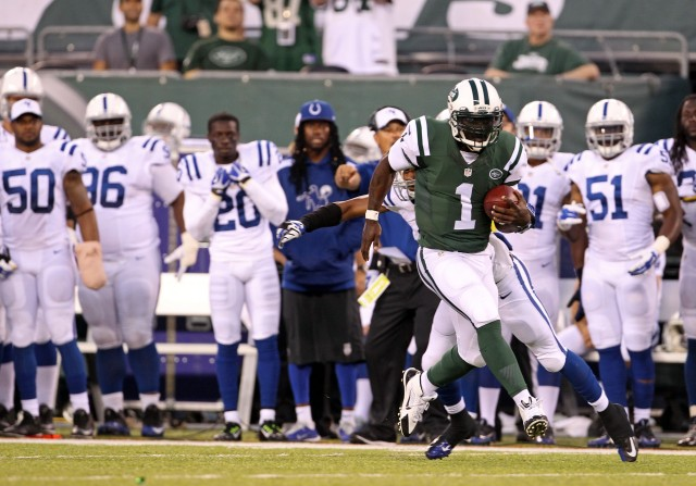 Hey, Michael Vick is still really hard to catch/tackle. (Adam Hunger, USA TODAY Sports)