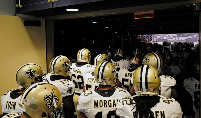 No, Drew Brees is not in walking through that tunnel. (Jeff Curry, USA TODAY Sports)