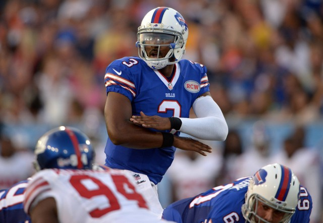 E.J. Manuel must show significant improvements in Year 2 at the helm of the Bills' offense. (Kirby Lee, USA TODAY Sports)