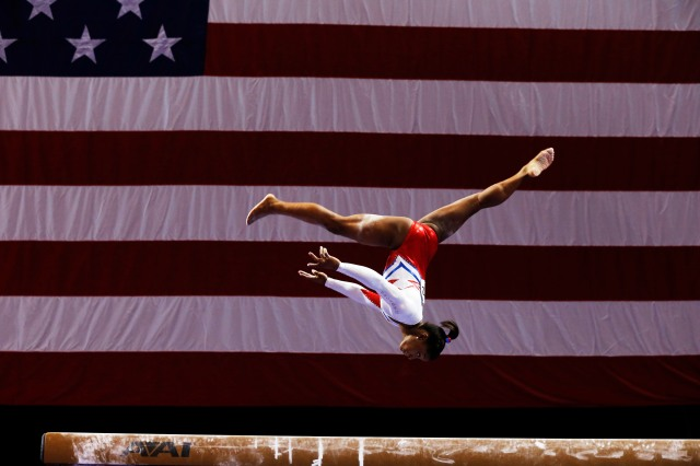 Simone Biles on the beam (David Butler II-USA TODAY Sports)