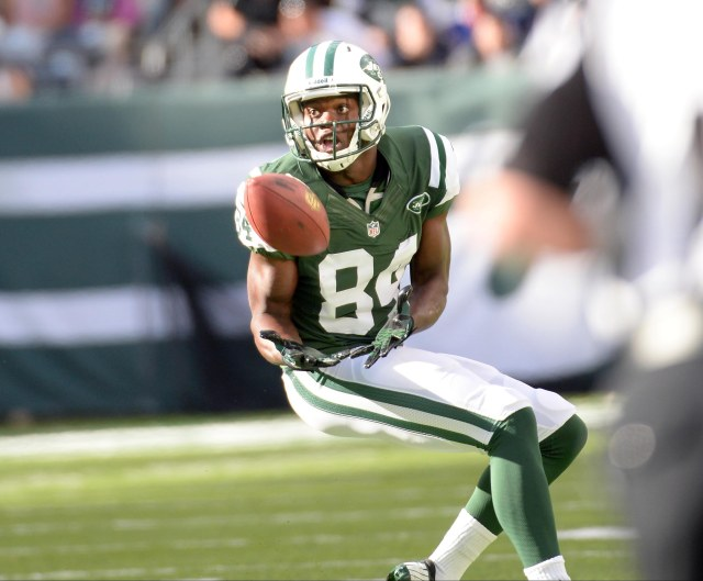 Stephen Hill hasn't lived up to expectations in his first two years with the Jets. (Robert Deutsch, USA TODAY Sports)