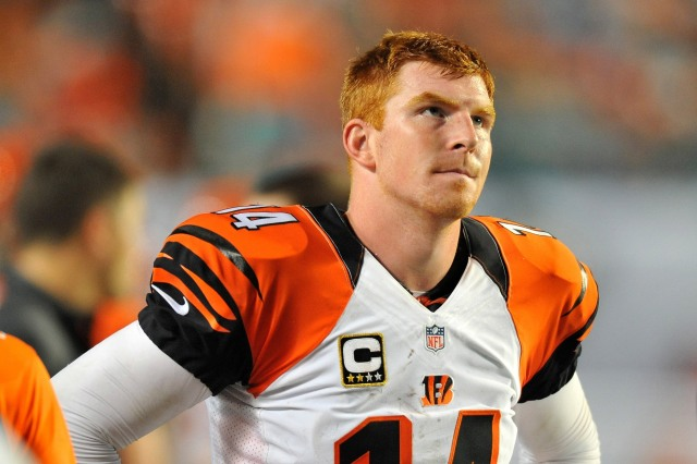 Andy Dalton needs to repair some substantial issues to justify the Bengals' contract. (Steve Mitchell, USA TODAY Sports)