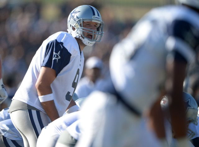 Tony Romo should return Saturday, but his workload is to be determined. (Kirby Lee, USA TODAY Sports)