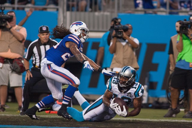 Kelvin Benjamin hauled in a touchdown in his first preseason game with the Panthers. (Jeremy Brevard, USA TODAY Sports)