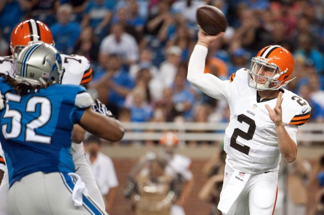 Johnny Manziel took center stage Saturday night in his preseason debut. (Tim Fuller, USA TODAY Sports)