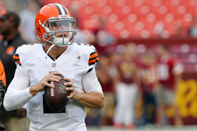 Johnny Manziel is now the Browns' No. 2 QB. (Geoff Burke-USA TODAY Sports)