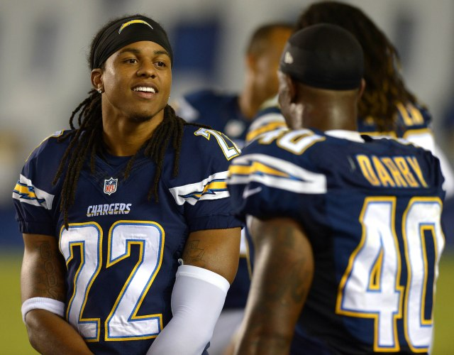 Jason Verrett and the Chargers cornerbacks must stand tall in 2014. (Jake Toth, USA TODAY Sports)