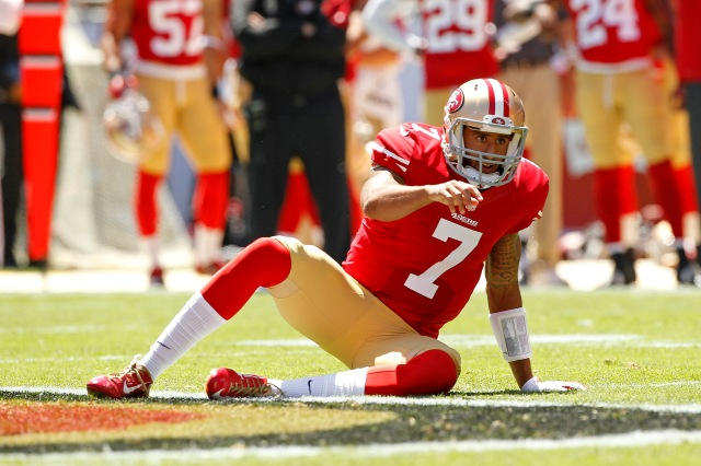 Colin Kaepernick and the 49ers can't possibly fall to 1-3, right? (Cary Edmondson, USA TODAY Sports)