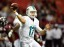 Ryan Tannehill was 6-for-6 passing in the Dolphins' preseason opener. (Dale Zanine, USA TODAY Sports)