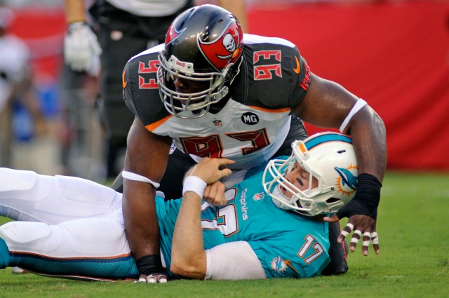Ryan Tannehill will be on his back often if Miami's interior line can't hold its ground. (David Manning, USA TODAY Sports)
